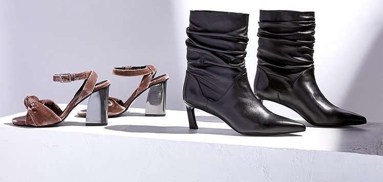Slouchy Boots, Sculpted Heels & More Trending Shoes
