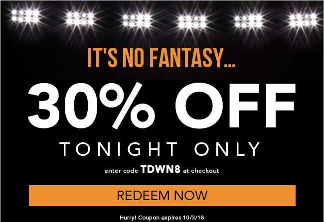30% Off Sitewide with code TDWN8. Ends 10/3/18.