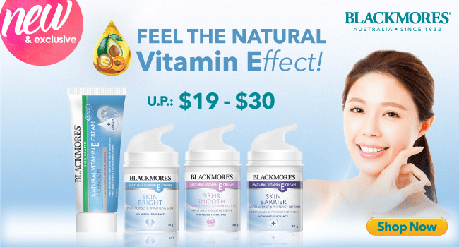 Click here to shop for Blackmores Vitamin E range!