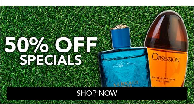 Shop 50% off specials collection.