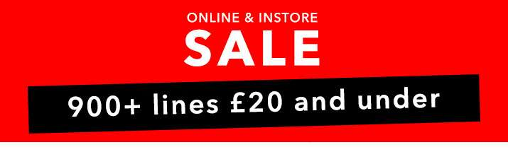 Sale 900+ lines £20 and under
