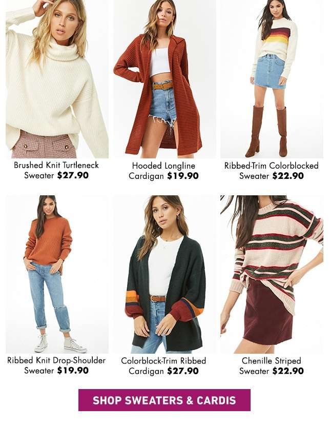 Shop Sweaters and Cardis