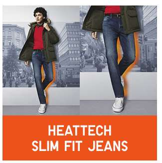 Shop Men's HEATTECH Slim Fit Jeans