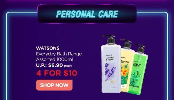 Watsons Everyday Bath Range