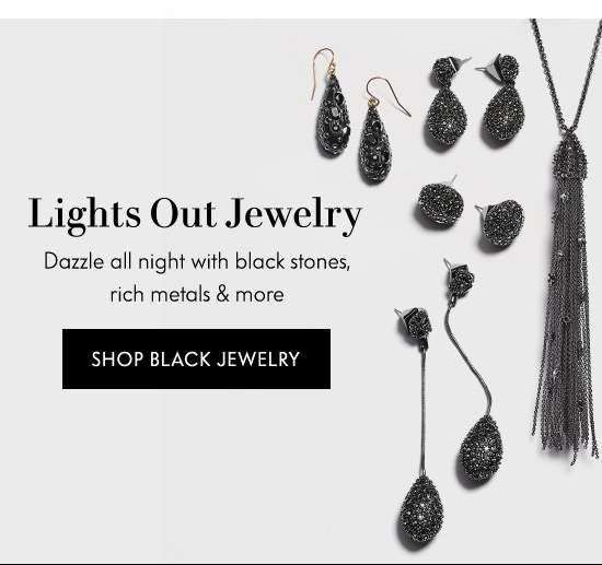 Shop Black Jewelry
