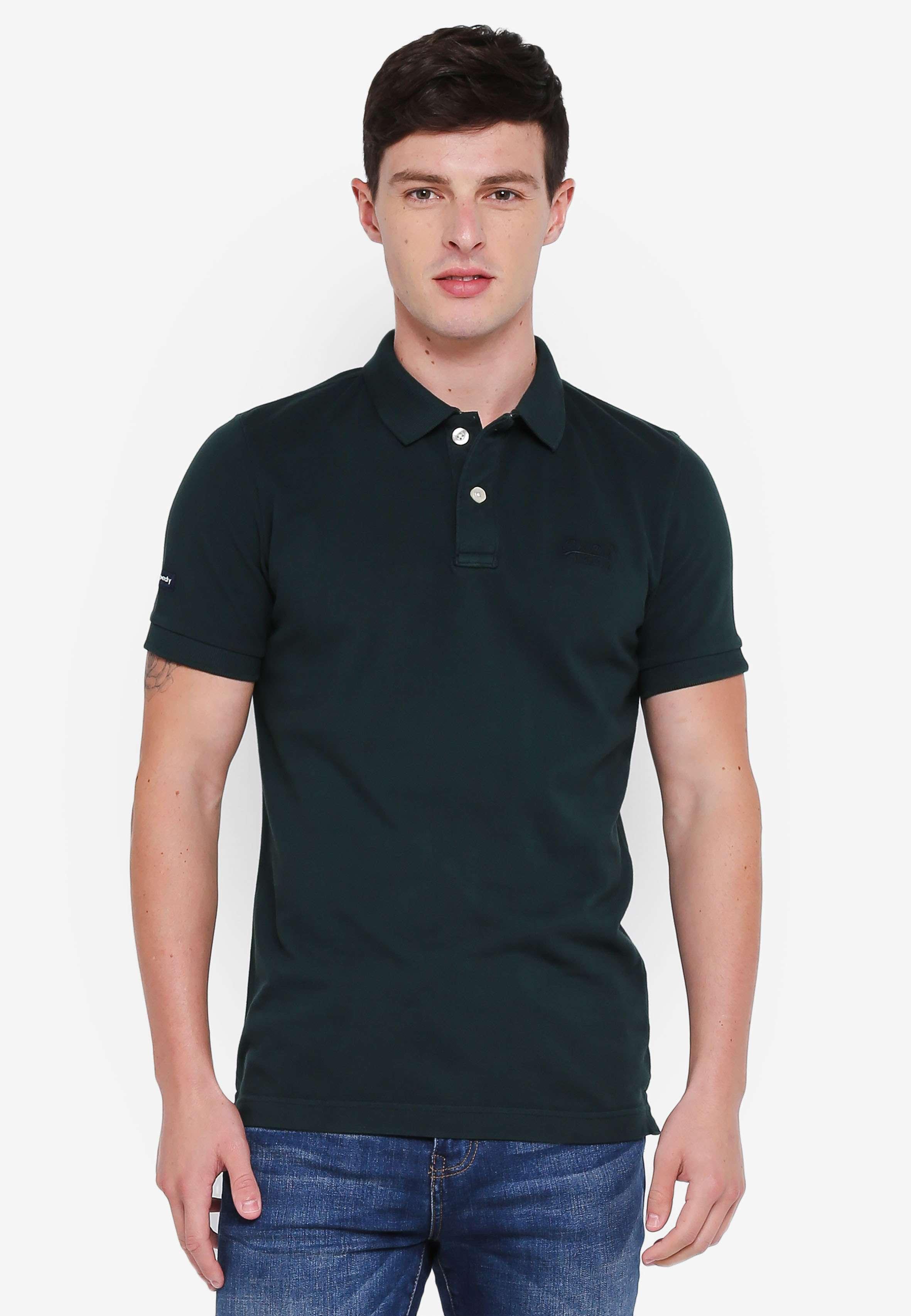 Vintage Destroy Short Sleeve Pique Polo Shirt