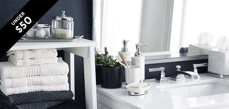 Bathroom Accessories to Towels