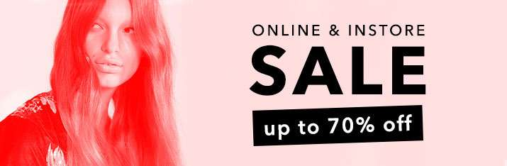 Online & instore sale up to 70% off