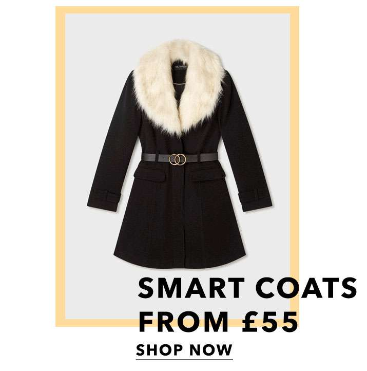 Smart coats from £55 - Shop now