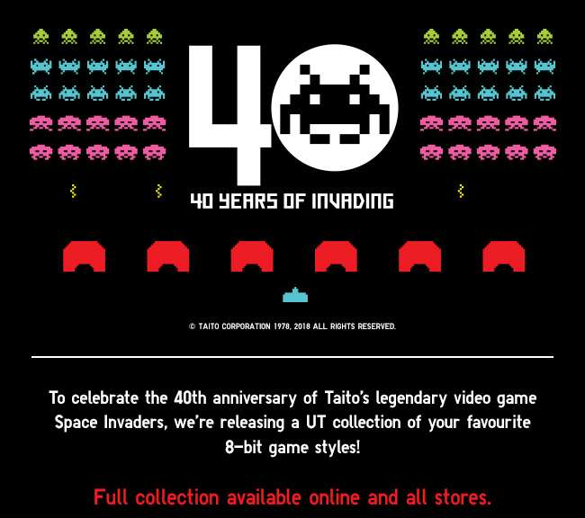 40 years of space invading! The Game by Taito Space Invaders UT Collection now available.