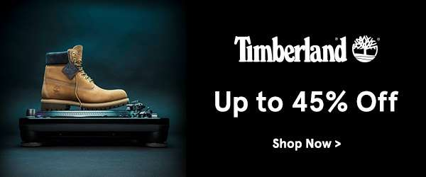 Timberland up to 45% off