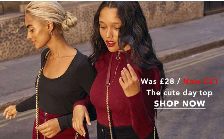 Burgundy Zip Funnel Neck Ribbed Knitted Top