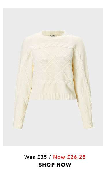 Cable Batwing Sleeve Knitted Jumper