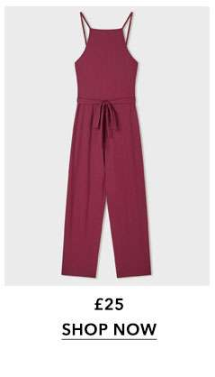 Cinnamon Square Neck Ribbed Culotte Jumpsuit