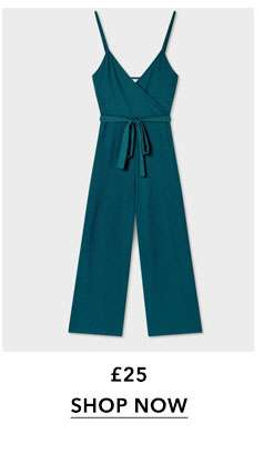 Wrap Front Ribbed Culotte Jumpsuit