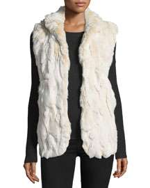 Adrienne Landau Rabbit Long Sleeveless Vest