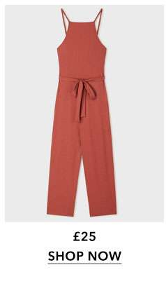 Ribbed Culotte 90's Neck Jumpsuit