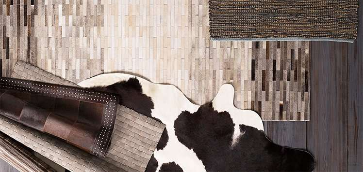 Cowhide to Leather Rugs