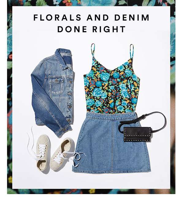 Shop Floral & Denim