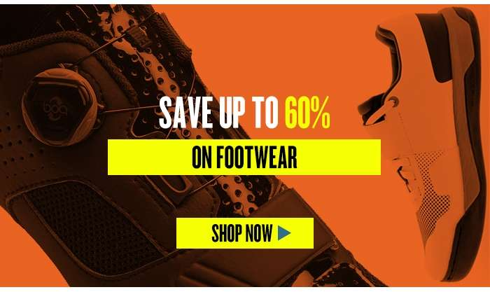 Save up to 60% on Footwear