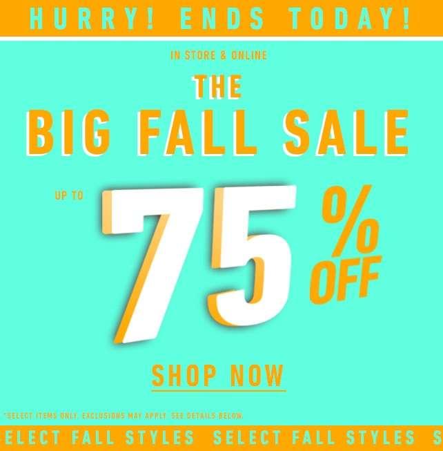 The Big Fall Sale