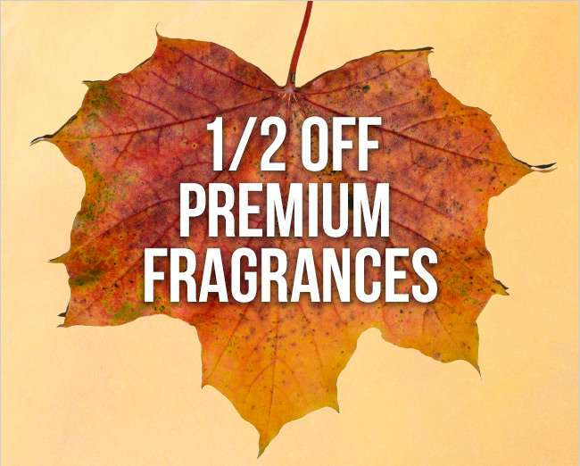 Half Off Premium Fragrances. Shop Now