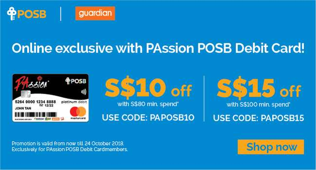 Online exclusive with PAssion POSB Debit Card! Up to $15 off with $100 min spend*
