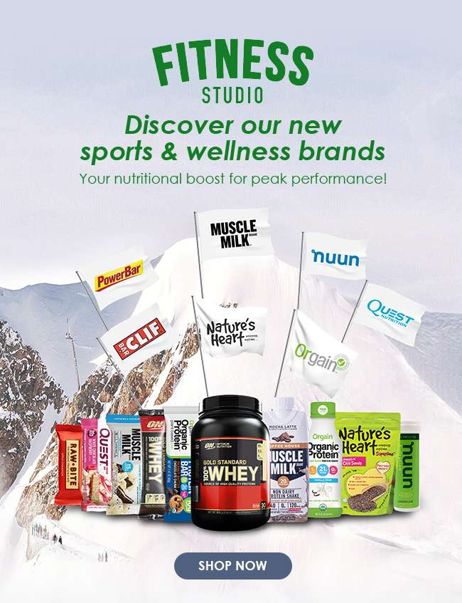 Click here to shop for our new sports & wellness brands!