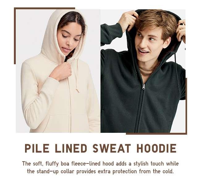 Pile Lined Sweat Hoodie