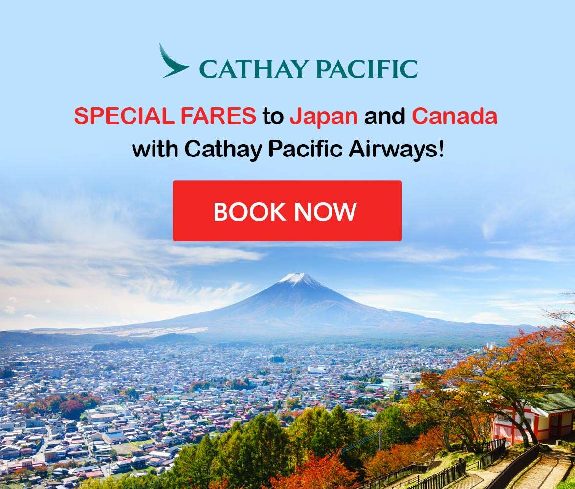 Enjoy exclusive fares to Japan and Canada with Cathay Pacific