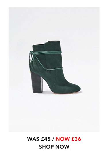 Green ARIAL Ankle Wrap Boots