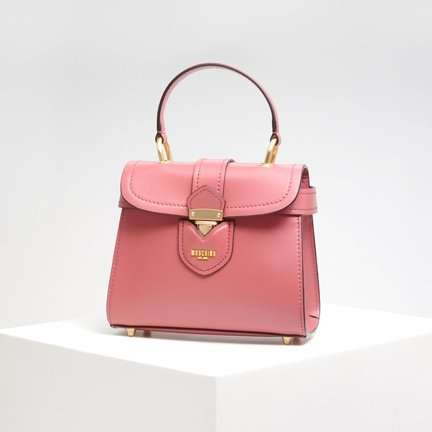 MOSCHINO Leather Small Satchel Bag