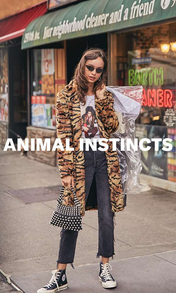 Show off your wardrobe's wild side with the season's jungle-fresh prints.