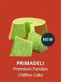 Primadeli Premium Pandan Chiffon Cake