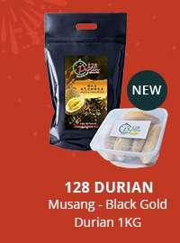 128 Durian Musang - Black Gold Durian 1KG