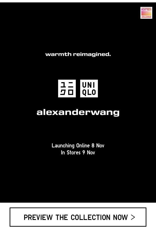 UNIQLO and ALEXANDER WANG - warmth reimagined