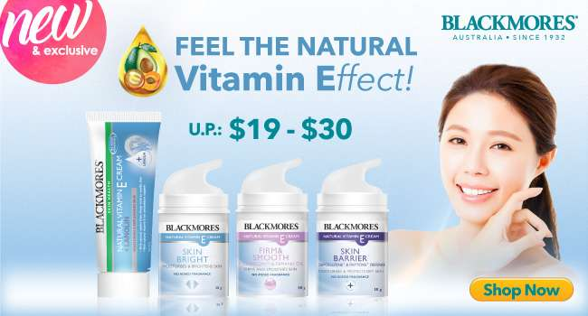 Click here to shop now for Blackmores Vitamin E Series!