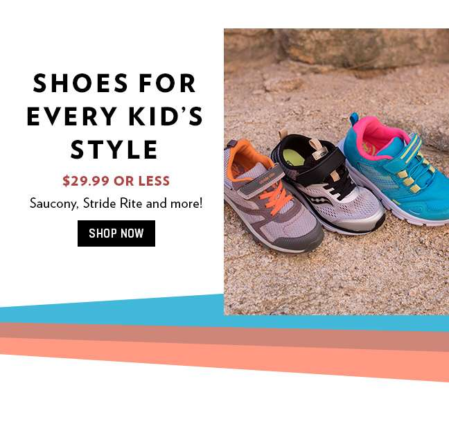 $29.99 or Less Kids Shoes