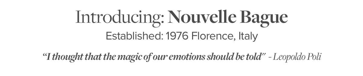 Introducing: Nouvelle Bague