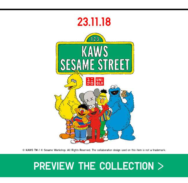 Preview the upcoming KAWS x SESAME STREET collection now!