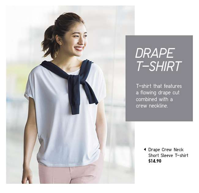 Shop Women's Drape Crew Neck Short Sleeve T-shirt at $14.90