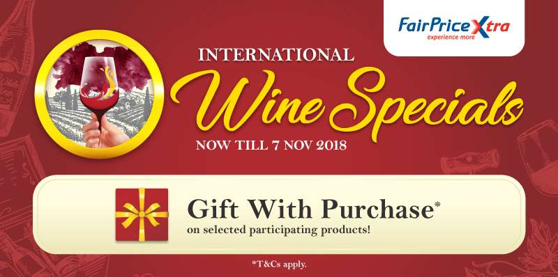 International Wine Specials - Gift with purchase on selected participating products!