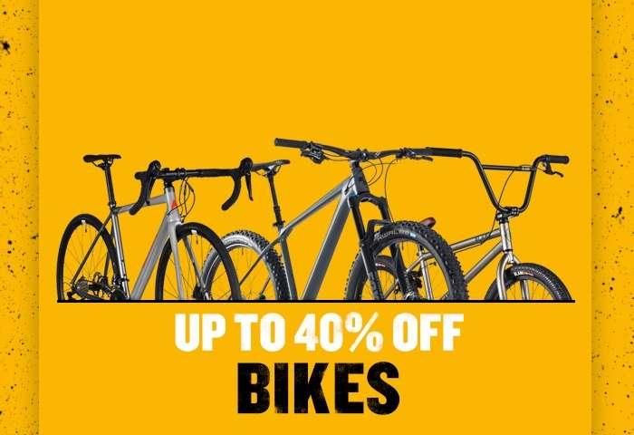 40% off Bikes