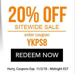 20% Off Sitewide sale. use code YKPS8. Coupon expires 11/2/18