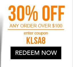 30% Off any order over $100. use code KLSA8. Coupon expires 11/2/18