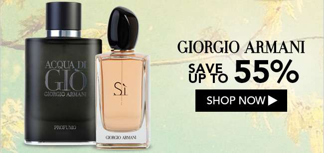 Giorgio Armani. Save up to 55%. Shop Now
