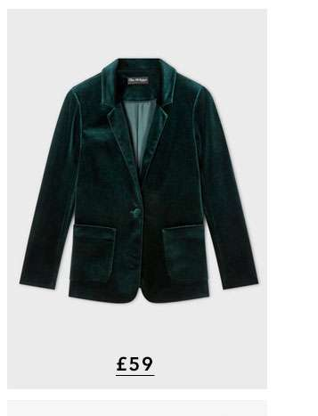 Forest Green Velvet Blazer