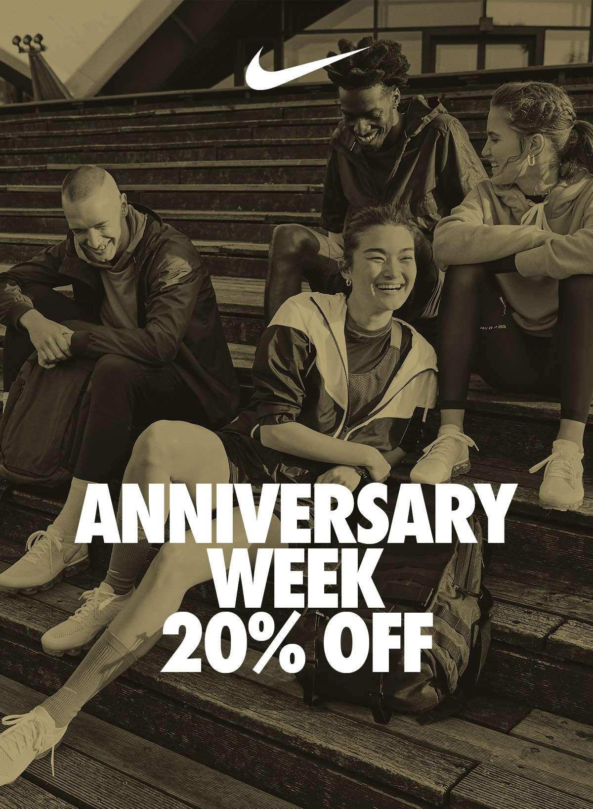 NIKE | ANNIVERSARY WEEK 20% OFF