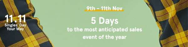 5 days left to the most anticipated sales event of the year!