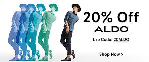 Use code 20ALDO to get 20% Aldo items
